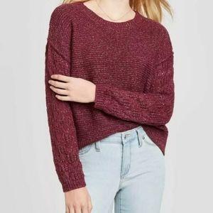 NWT! Knox Rose Burgundy Sweater